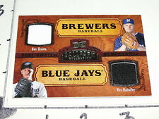 2008 UD BALLPARK Dual Game Used #185 BEN SHEETS Brewers / ROY HALLADAY Blue Jays