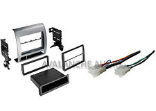 Silver Tacoma 2005-11 Double DIN Car Stereo Deck Dash Install Kit W/ Harness Set