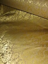 VINTAGE 1960/70 TRADITIONAL BROCADE INTERIOR CURTAIN FABRIC GOTHIC MEDIEVAL DESI