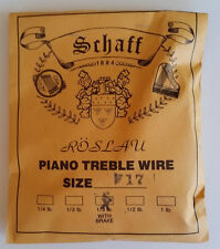 Schaff Roslau Piano Music Treble Wire Size 17 .039 1/3 Lb Coil 83' w Brake
