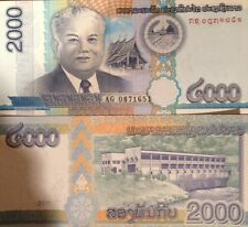LAOS 2011 2000 KIP BEAUTIFUL UNCIRCULATED BANKNOTE P-NEW BUY FROM A USA SELLER !
