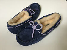 WOMENS UGG MOCCASIN FUZZY SLIPPERS WINTER WOOL BEDROOM HOUSE SHOES FUR WARM 6 37