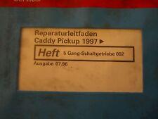 VW Caddy Pick-up 1997 Boite de vitesse Directrice réparation Manuel