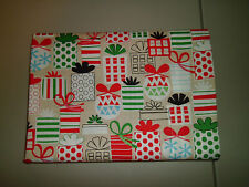 1-Various Sized Christmas Presents King Size 100% Cotton Pillowcase New Handmade