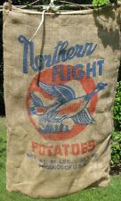 "Northern Flight Used Potato Gunny Burlap Feed Seed Sack - 50 LBs -  19"" x 31"""