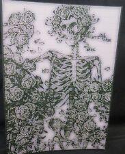 GRATEFUL DEAD SKULL AND ROSES BLOTTER ART skeleton 70s STANLEY MOUSE greatful US