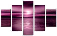 5 Panel Tot 115x80cm Large ABSTRACT Wall  ART CANVAS  DIGITAL Climax Pink Plum