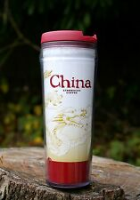 Starbucks Coffee Company 2008 China Red Dragon Tumbler Double Insulated 12oz