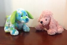 Lot 2 Webkinz Ganz TROPICAL ISLAND PUP & PINK POODLE Plush Puppy Dogs Free Ship