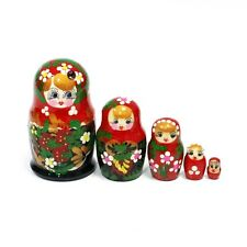 Russian Voznesenskay Nesting dolls Matryoshka set 5 pcs hand painted #24