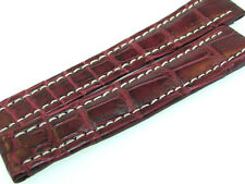 BREITLING BAND 16MM CROCO RED BROWN STRAP B16-14