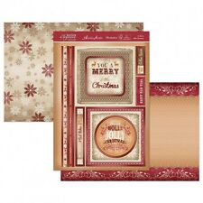 HUNKYDORY A Festive Elegance A MERRY LITTLE CHRISTMAS Foiled Toppers 2 A4 Card