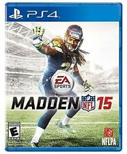 Madden NFL 15 (Sony PlayStation 4, 2014) PS4 Tom Brady Russell Wilson Alex Smith