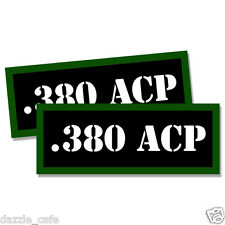 "380 ACP Ammo Can 2x Labels .380 Ammunition Case 3""x1.15"" stickers decals 2 pack"