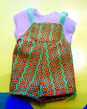 Kelly Tommy Ryan Friends Doll Clothes *Green & Orange Sunflower Jumpsuit* (b)