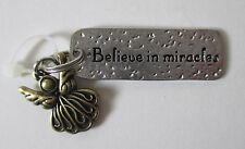 q Believe in Miracles Angel SIMPLY TAGS N CHARMS double Charm Pendant Ganz