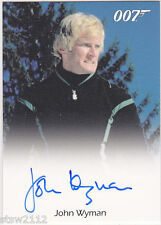 JAMES BOND 50TH ANNIVERSARY SERIES 2 FULL BLEED JOHN WYMAN E KRIEGLER AUTOGRAPH