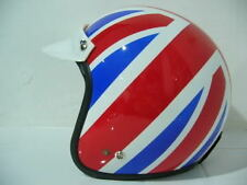 Vintage Scooter Motor UK England Flag Racing Open face Helmet NEW