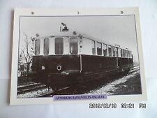 CARTE FICHE TRAIN AUTORAILS BATIGNOLLES BACALAN