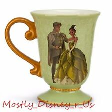 NEW Disney Store Designer Fairytale Tiana & Naveen Couple Ceramic Mug Cup