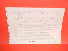 1967 BUICK ELECTRA 225 WILDCAT CONVERTIBLE COUPE SEDAN FRAME DIMENSION CHART