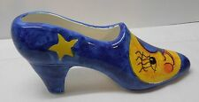 High Heel Shoe Blue with Yellow Moon and Stars Bellini Piu Made in Italy