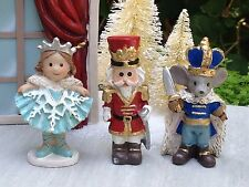 Miniature FAIRY GARDEN Mini Village ~ CHRISTMAS Nutcracker Mouse King Snow Queen