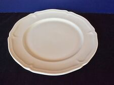 """VILLEROY BOCH MANOIR All White Scallop ONE DINNER PLATE Luxembourg @10 1/2"""" D"""
