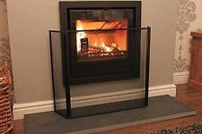 """Three fold Fire Guard I Screen in Black I With wall fixing kit H-61cm (24"""")"""