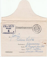 POLAND/GERMANY WWII PRISONER OF WAR CAMP LETTER FROM OFLAG VI/B TO SWITZERLAND