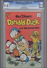 "Donald Duck #246CGC 9.8  First Gladsone Issue by Barks ""The Gilded Man"""