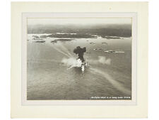 WWII Large Black and White Photo Mosquito Attack on Ship