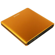 Pawtec Signature External USB 3.0 Aluminum 8X DVD-RW Writer Lightscribe Orange