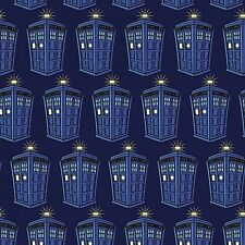 """1 Yard Springs Doctor Who """"Police Public Call Box""""  Fabric"""
