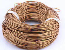 5 Meter Genuine Natural Round Leather Cord 1.5mm fit DIY Jewelry craft