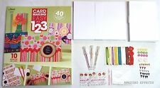 Card Making easy as 1 2 3 Kit makes 40 cards Card stock & Embellishment included