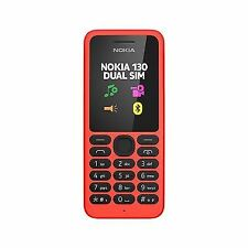 Brand New Dual Sim Nokia 130 - Red (Unlocked) Mobile Phone