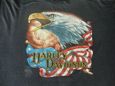 Harley Davidson 3D Emblem Vintage Soft Paper Thin T Shirt XL Dallas Texas 1986
