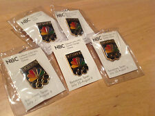 Lot of 5 Barcelona 1992 Summer Olympic games NBC Media TV Pins  New!