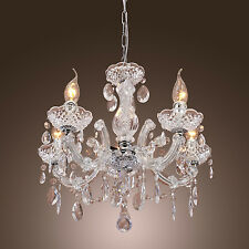 2015 Vintage lamp 5 Candle lights lighting Fixture Crystal Chandelier Pendant