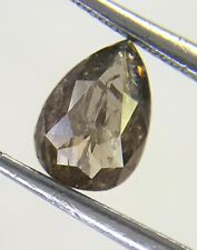 Africn Loose Natural Diamond Antique Pear shape Cognac Yellow Gray Color 0.47TCW