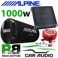 "ALPINE SWT-12S4 + BBX-T600 1000 WATTS 12"" Sub Subwoofer Car Bass Tube & Amp Pack"