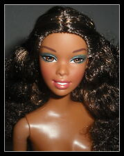 NUDE BARBIE MATTEL AA STUNNING BRUNETTE BROWN EYES DIARIES DOLL FOR OOAK