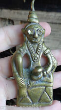 OLD THAI GILT BRASS YAB - YUM  NGANG / MALE & FEMALE NUDE AMULET  ATTRACT LUCK