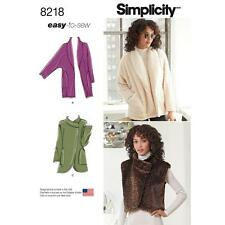 SIMPLICITY SEWING PATTERN MISSES' JACKETS FUR VEST SIZE XS - XL 8218