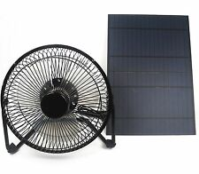 8'' USB Mini Fan Powered by 10W Solar Panel Cooling Greenhouse Air Ventilation