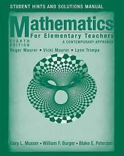Mathematics for Elementary Teachers, Student Solutions Manual: A Contemporary Ap