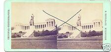 19572/ Stereofoto 9x17,5cm,E. Reulbach, München Bavaria mit Ruhmeshalle, ca.1870
