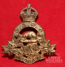 WW1, Canadian Army Pay Corps OFFICERS Cap Badge, TIPTAFT maker.  (Inv8435)