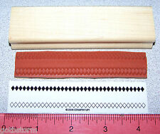 Stampin Up Stamp Border Diamonds Solid Open Patterns Designs from All in a Row